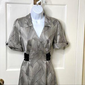Maurices Retro Style Black & White Dress